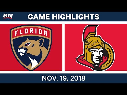 NHL Highlights | Panthers vs. Senators – Nov. 19, 2018