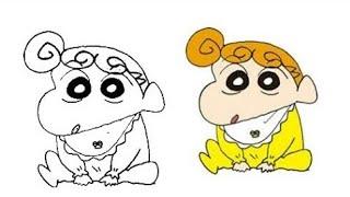 How to draw ShinChan step by step | Pencil sketch Shin-Chan Nohara yo yo | Himawari drawing