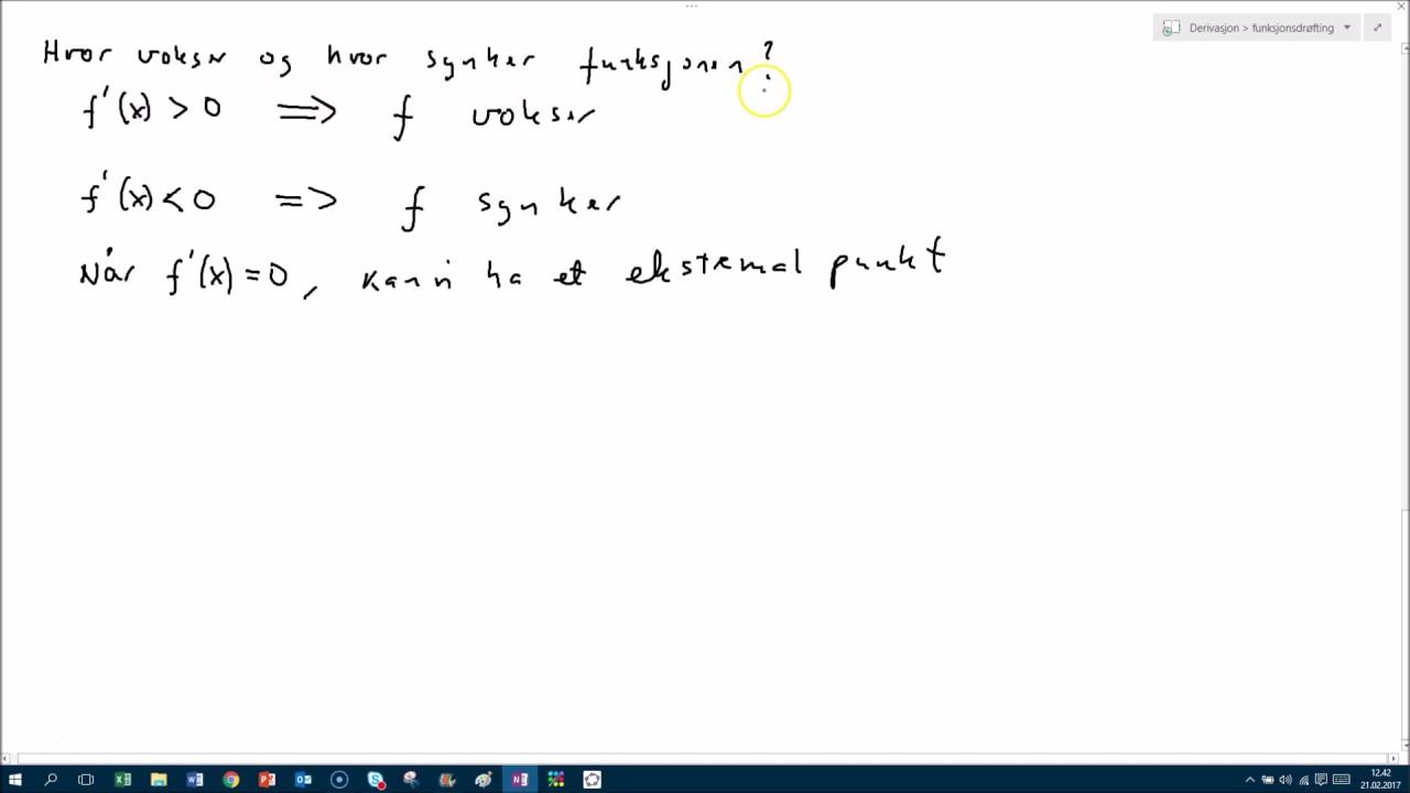 Funksjonsdrøfting Matematikk 1T