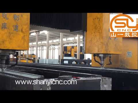 China high speed double head cnc drilling milling machine for  steel plate