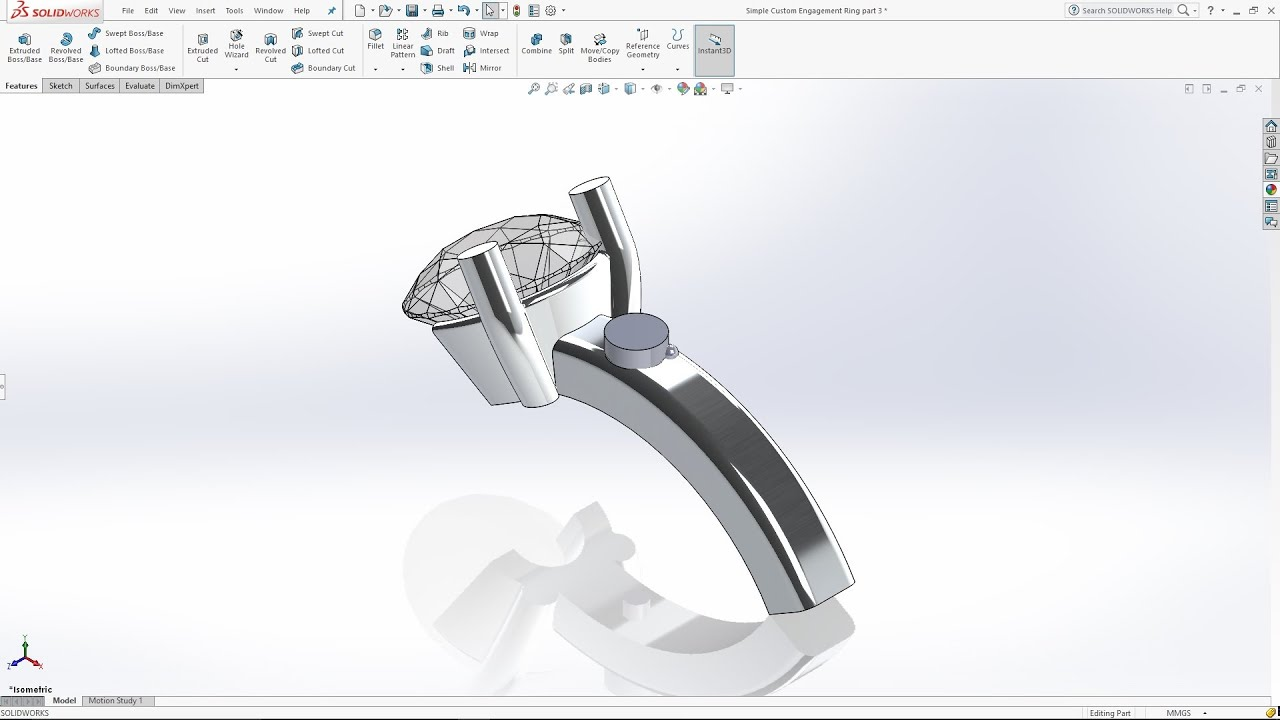 Solidworks tutorial custom engagement ring part 3 youtube ccuart Choice Image