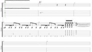 移民の歌 レッド・ツェッペリン ギター リフ Tab譜 Led Zeppelin Guitar...