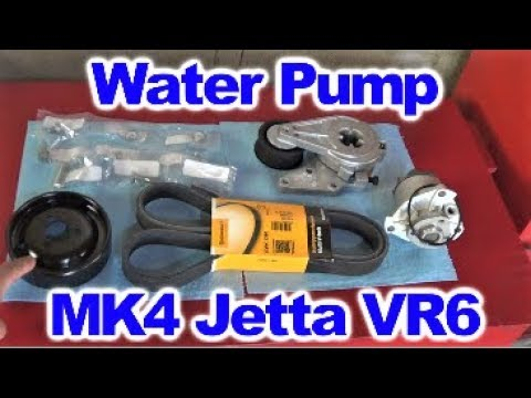 How to Replace Water Pump on MK4 Jetta with VR6 Engine by Howstuffinmycarworks