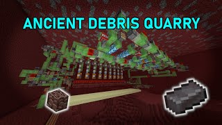 Minecraft 1.16 easy ANCIENT DEBRIS QUARRY | afk farm Netherite / Ancient Debris | fully automatic