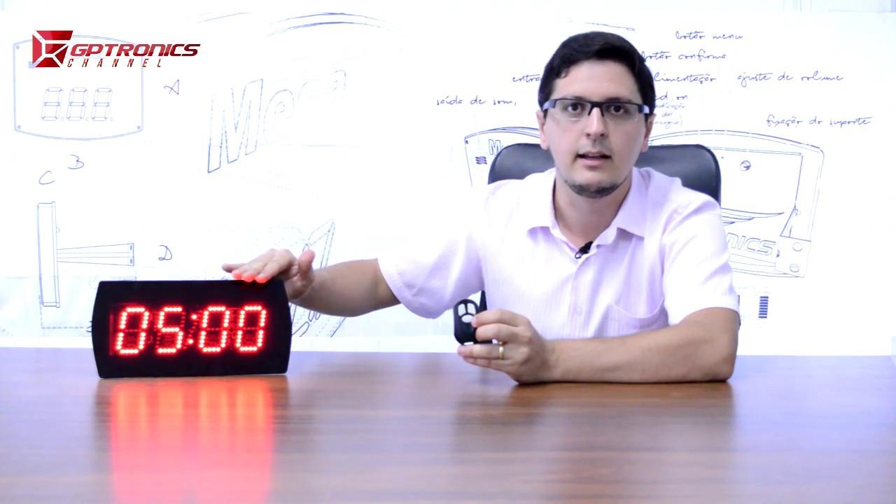 19c498e3b85 Relógio e Cronômetro Digital - 28x14 cm - Vídeo Explicativo - YouTube
