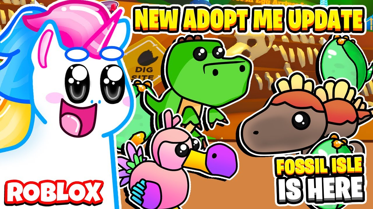 How To Unlock New Dino Pets In Adopt Me Fossil Isle Update In Roblox Adopt Me Youtube