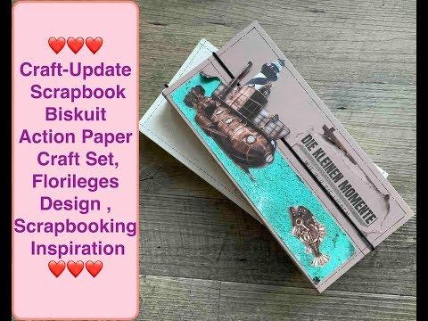 Diy Inspiration, Scrapbook Biskuit Action Paper Craft Set, Florileges Design ,Scrapbooking leicht