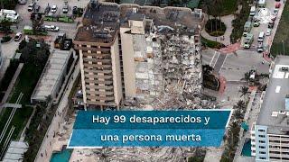 El colapso de una parte de un edificio en Miami Beach ha dejado al menos un muerto y 99 personas desaparecidas