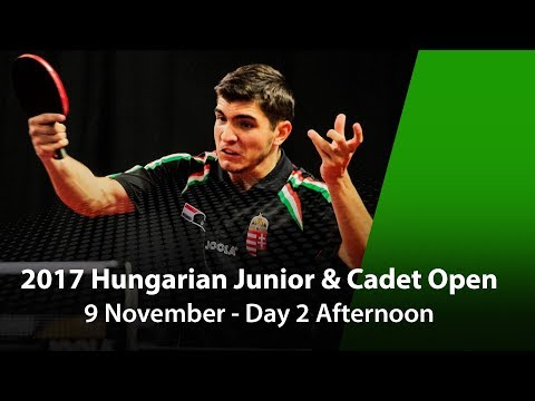 2017 ITTF Hungarian Junior & Cadet Open - Day 2 Afternoon