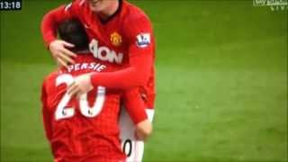 Robin Van Persie Volley 2nd Goal Manchester United Vs Aston Villa 3  0 Match Highlights 22_4_13