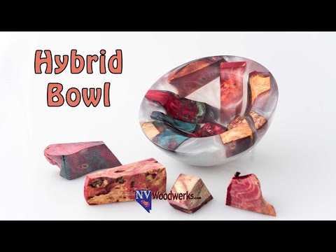 Resin and Dye Stabilized Burl Wood Bowl - Resin Casting Alumilite | Dunkin' Junk Live Replay