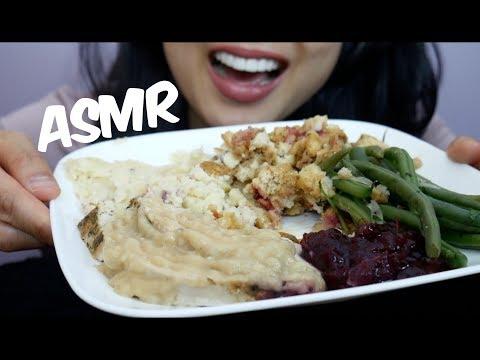 ASMR Thanksgiving TURKEY DINNER (EATING SOUNDS) | SAS-ASMR