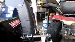 Craftsman snowblower chute modified and powered by linear actutor