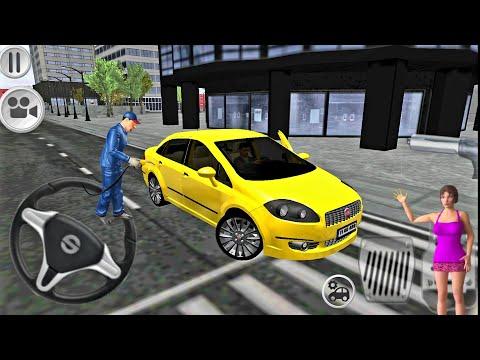Fiat Linea Driving Simulator Sari Araba Oyunlari Fhd Youtube