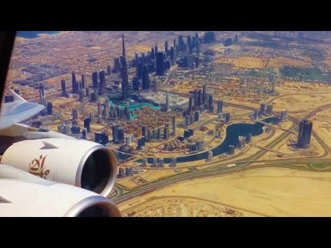 Emirates Airbus A380 Dubai to Melbourne EK406 Dubai Takeoff, Inflight Turbulence and Night Landing