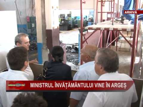 Ministrul invatamantului vine in Arges