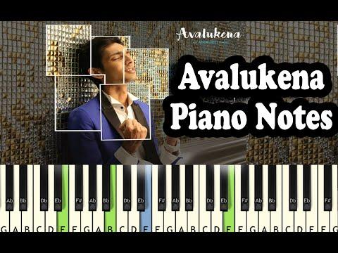 Avalukena Anirudh - Full Piano Notes - Music Sheet