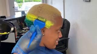 🌈❗️Failed❗️ Rainbow hair color   Influance hair color