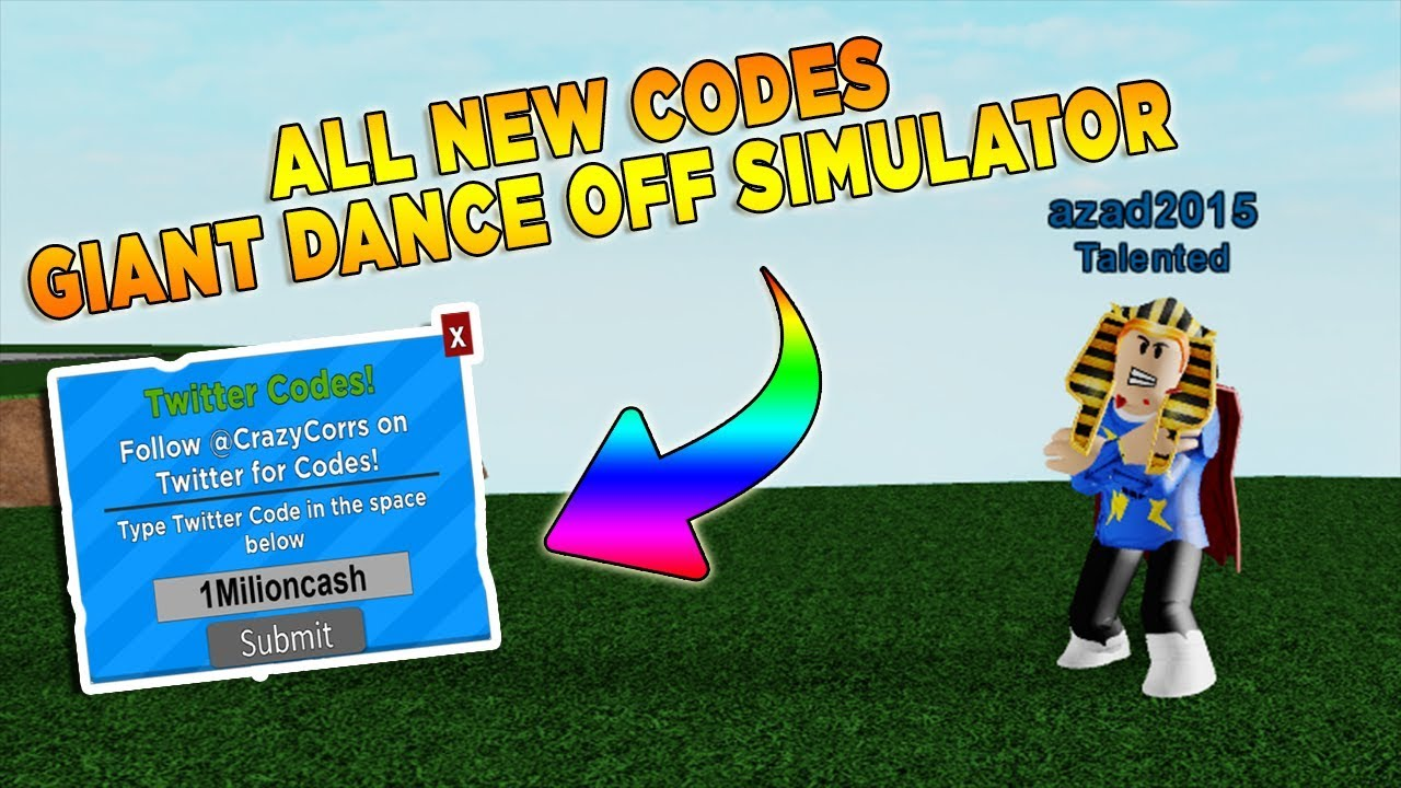 roblox giant dance off simulator codes 2019