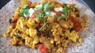 Vegan Breakfast Burrito - Mexican Tofu Scramble