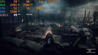Battlefield 1 benchmark ( I5 8400- GTX 1050 ti ) ultra preset 1080p