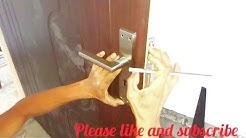 Double handle Door Lock fitting