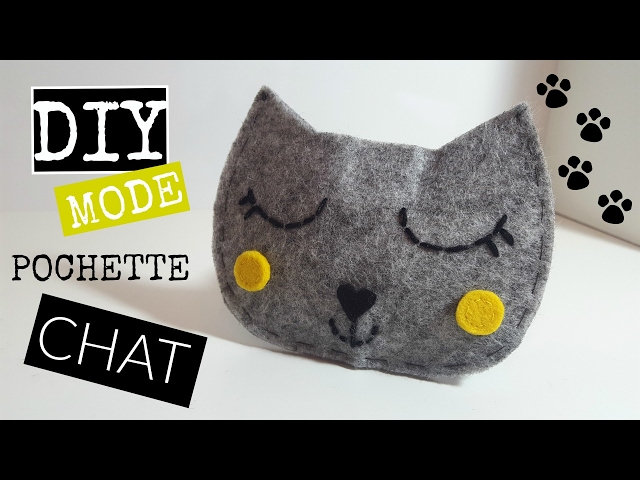 Diy Pochette Porte Monnaie Chat Youtube