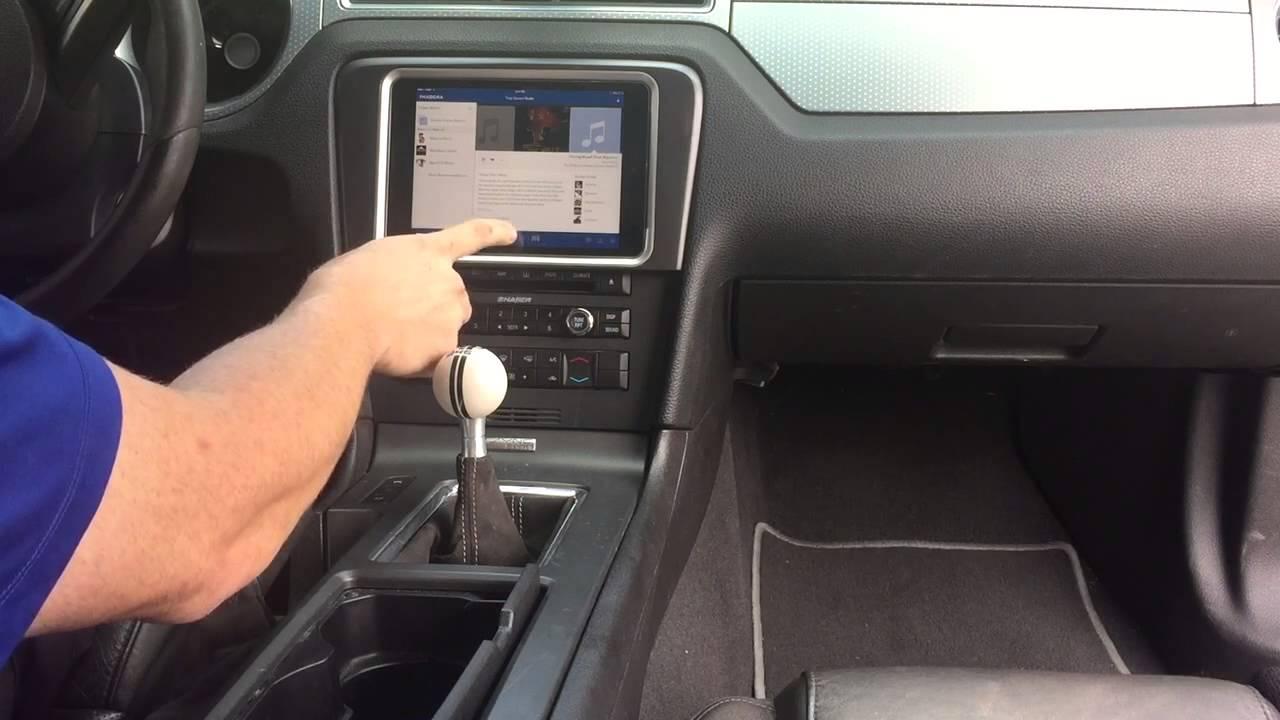 Mustang Custom iPad mini dash navigation double din - YouTube