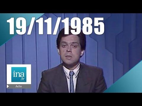 Soir 3 du 19 novembre 1985 - Rencontre Reagan / Gorbatchev à Genève | Archive INA