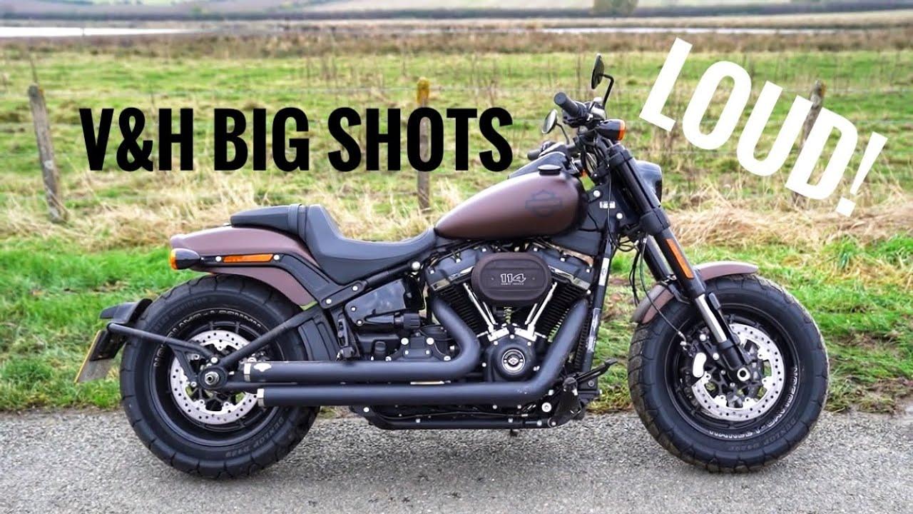 Harley-Davidson Fat Bob W/ V&H Big Shots Staggered (LOUD ...