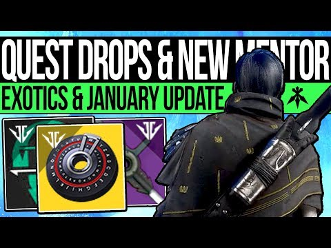 Destiny 2 | NEW EXOTIC REWARDS & HUNTER VANGUARD! Secret Weapon, January Update, Catalysts & Quests! thumbnail