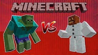 Minecraft Mutant Zombie vs Mutant Snow Golem