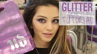 Purple Glitter Smoke Out Tutorial with Urban Decay | Kaushal Beauty | Ad Thumbnail