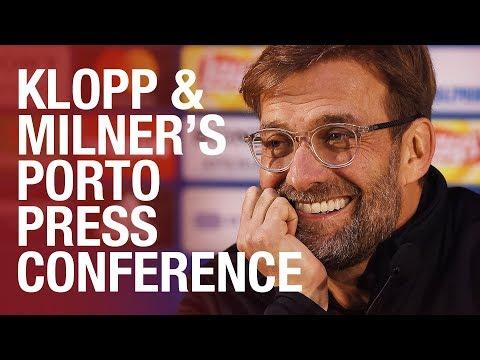 Klopp and Milner's pre-Porto press conference