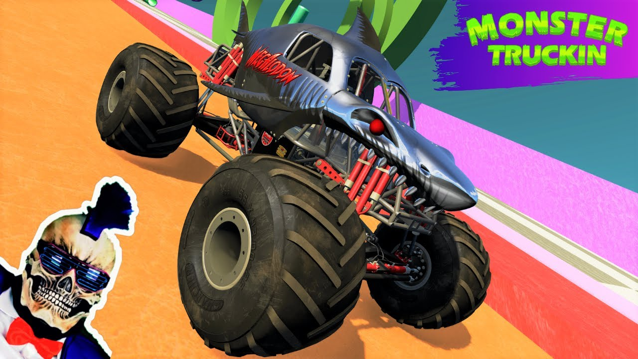 Monster Jam INSANE High Speed Jumps and Crashes #18   BeamNG Drive