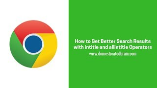 Gambar cover How to Get Better Search Results with intitle and allintitle Operators