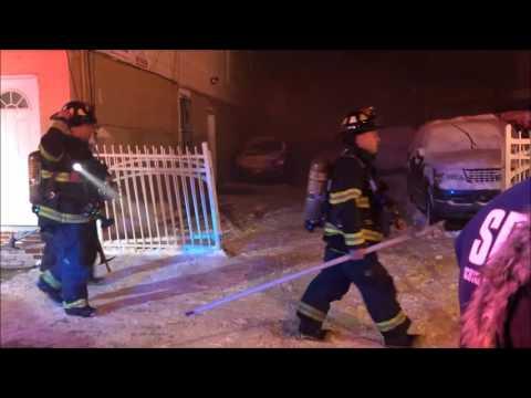 ELIZABETH FIRE DEPARTMENT BATTLING A DEADLY 3RD ALARM FIRE ON FLORA STREET IN ELIZABETH, NEW JERSEY.