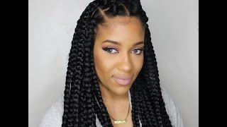 how to jumbo box braids rubberband method