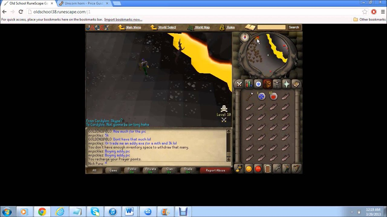 runescape how to know how old your account is
