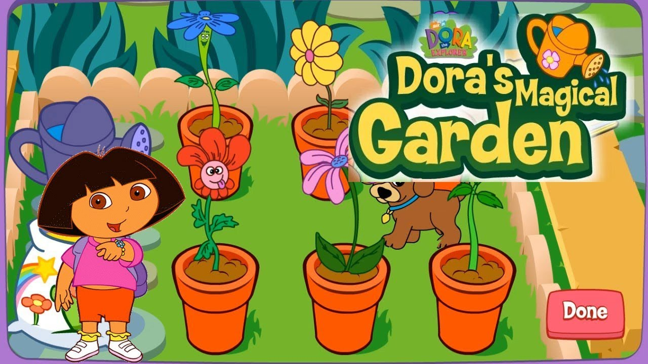 Dora The Explorer Dora Magical Garden Kids Games Online