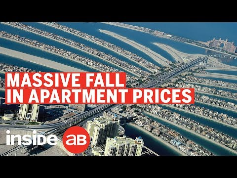Why have property prices fallen by 9.5% in the UAE?