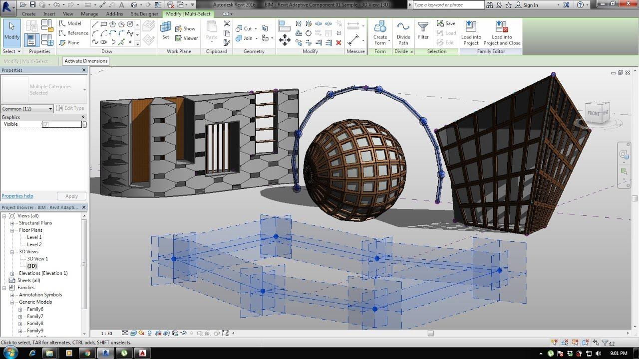 Bim Revit Adaptive Component 01 Basic Modeling An