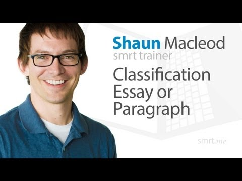 Classification Essay or Paragraph
