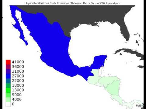 Central America - Agricultural Nitrous Oxide Emissions - Time Lapse