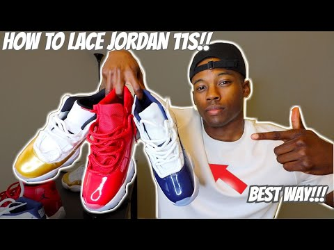 HOW TO LACE JORDAN 11's (3 WAYS w/ ON FEET) | FEATURING MIDNIGHT NAVY