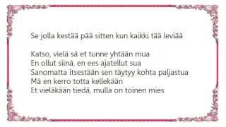 Jenni Vartiainen - Toinen Lyrics