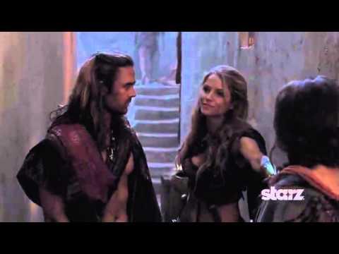 Ellen Hollman as SAXA on Spartacus War of the Damned