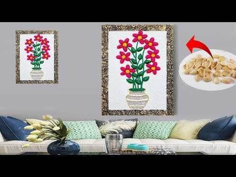 DIY Pista shell wall hanging // ROOM DECOR !! Easy Wall Hanging Craft Ideas at Home