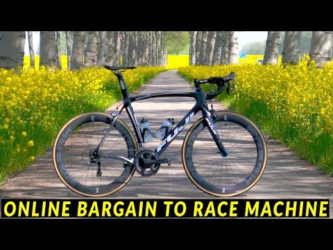 5 YEAR TRANSFORMATION of my FUJI ROADBIKE  cheap bargain to race machine! (full overhaul)
