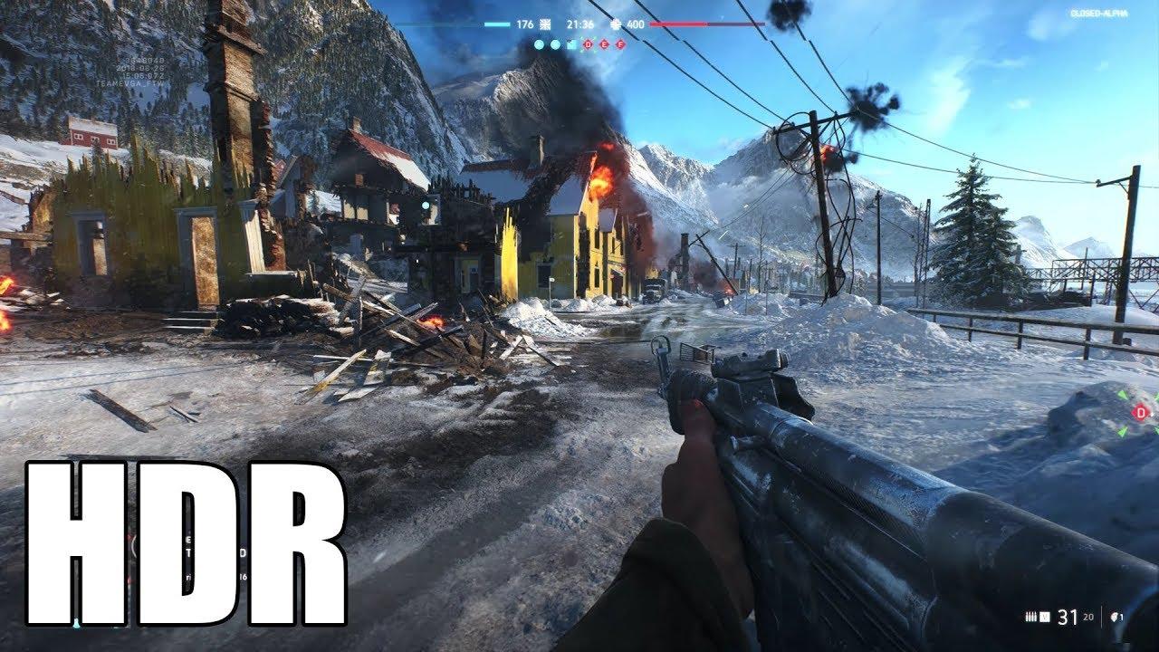 Battlefield V HDR Gameplay - EVGA GeForce GTX 1080 Ti